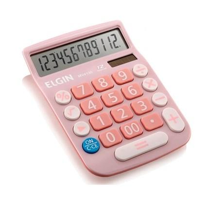 Calculadora Elgin MV-4130 12 Digitos Rosa.