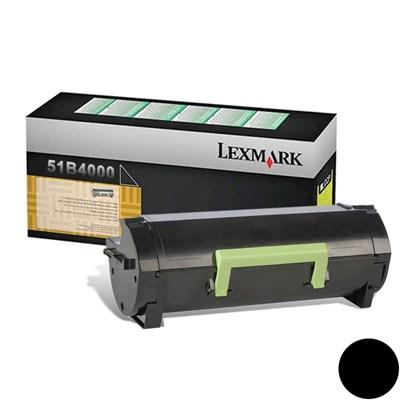 Cartucho de Toner Lexmark 51B4000 Preto p/ 2.500 Páginas