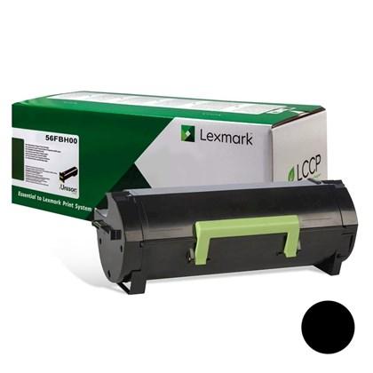 Cartucho de Toner Lexmark 56FBH00 Preto p/ 15.000 Páginas