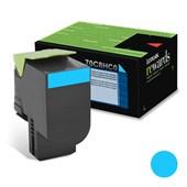 Cartucho de Toner Lexmark 70C8HC0 Ciano p/ 3.000 Páginas