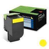 Cartucho de Toner Lexmark 70C8HY0 Amarelo p/ 3.000 Páginas