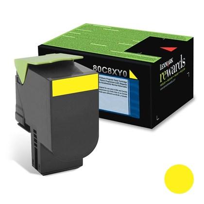 Cartucho de Toner Lexmark 80C8XY0 Amarelo p/ 4.000 Páginas