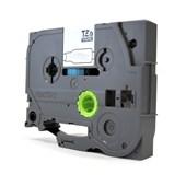 Fita Laminada p/ Rotulador Brother TZe-131 Preto Sobre Transparente 12mm