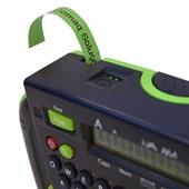 Fita p/ Rotulador Brother M-731 Preto Sobre Verde 12mm