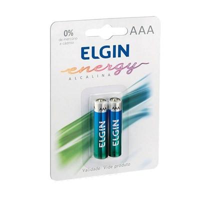 Pilha Alcalina Elgin  AAA C/2