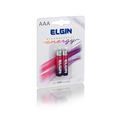 Pilha Recarregável Elgin AAA C/2