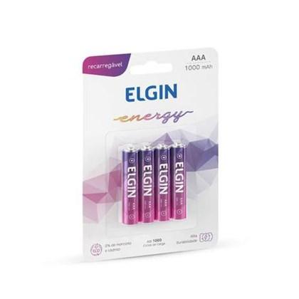 Pilha Recarregável Elgin AAA C/4